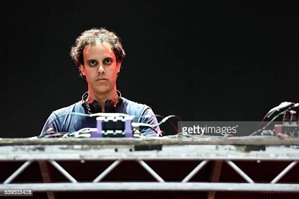 Kieran Hebden of Four Tet plays the Eat Your Own Ears stage at Field Day in Victoria Park on June 11 2016 in London England
