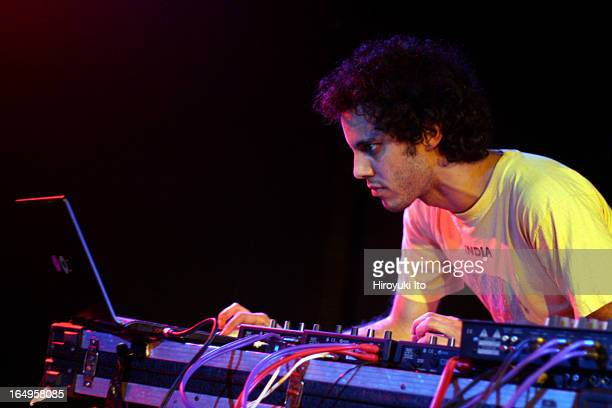Kieran Hebden on electronics and Steve Reid on drums performing at Mercury Lounge on Monday night April 3 2006This imageKieran Hebden
