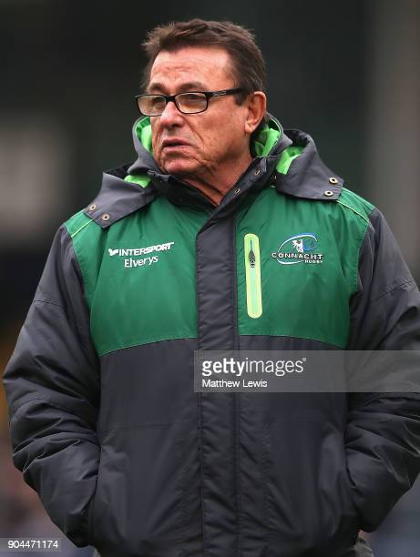 Kieran Keane Director of Rugby of Connacht Rugby looks on during the European Rugby Challenge Cup match between Worcester Warriors and Connacht Rugby...