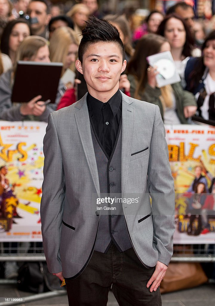 Kieran Lai attends the UK Premiere of 'All Stars' at the Vue West End cinema on April 22, 2013 in London, England.