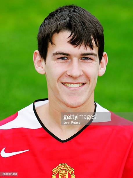Kieran Lee of Manchester United poses at the club's annual photocall on 10 August 2005 in ManchesterEngland