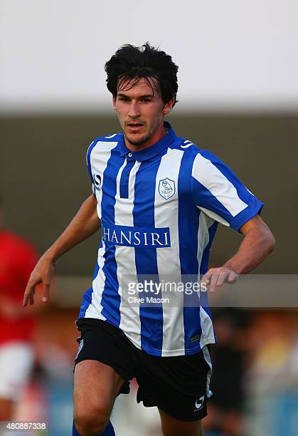 Kieran Lee of Sheffield Wednesday during the pre season friendly match between Ilkeston and Sheffield Wednesday at the New Manor Ground on July 15...