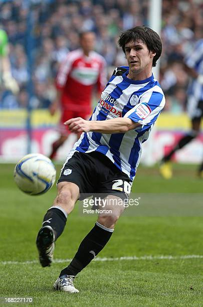Kieran Lee of Sheffield Wednesday in action during the npower Championship match between Sheffield Wednesday and Middlesbrough at Hillsborough...