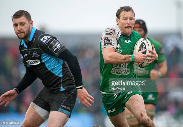 Kieran Marmion of Connacht runs with the ball during the Guinness PRO12 rugby match between Connacht Rugby and Glasgow Warriors at the Sportsground...