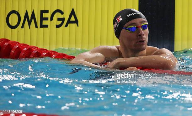 Kieran McGuckin of Edinburgh University competes in the heats of the Men's 100m Freestyle during day three of the British Swimming Championships at...