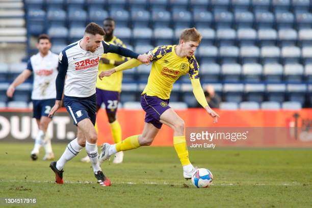 Kieran Phillips of Huddersfield Town during the Sky Bet Championship match between Preston North End and Huddersfield Town at Deepdale on February...
