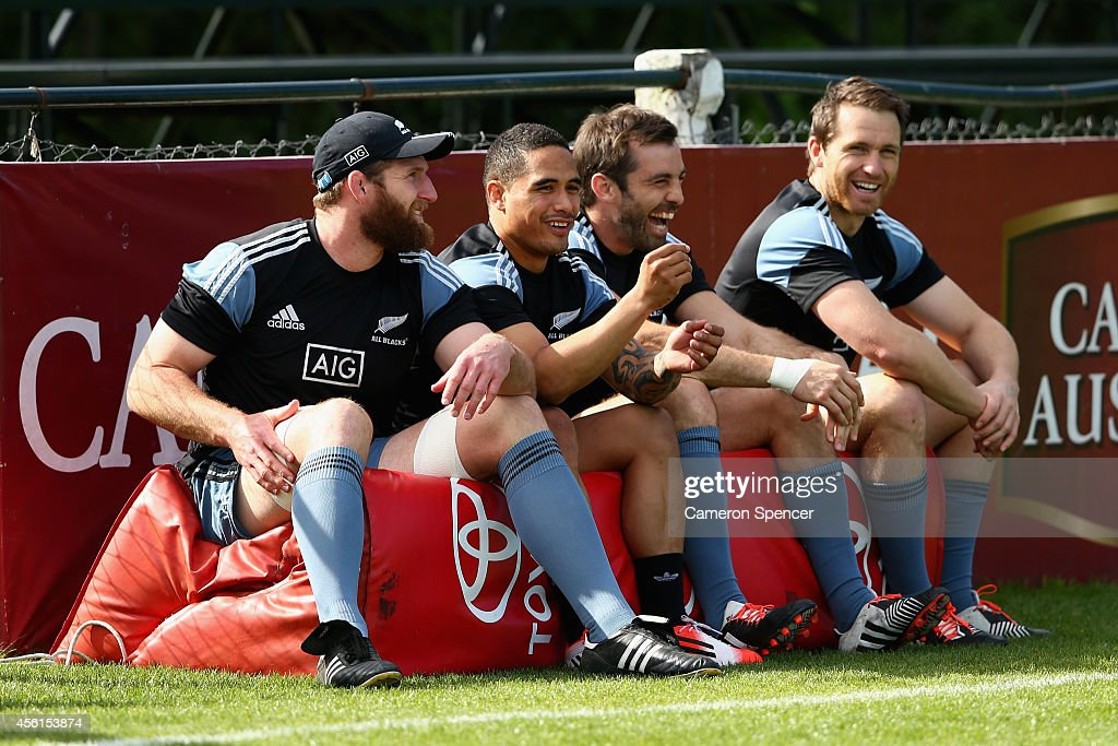 New Zealand All Blacks Captain's Run : News Photo