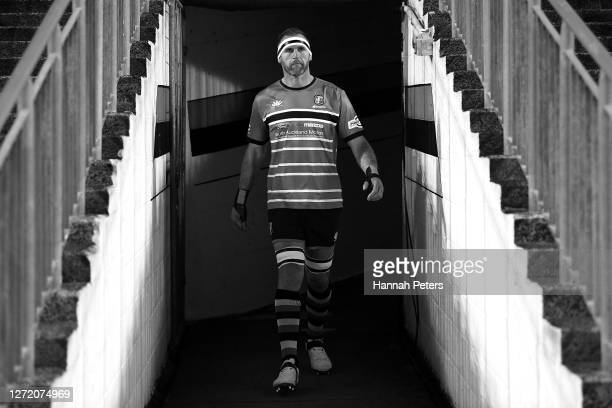 Kieran Read of Counties Manukau walks out ahead of the round 1 Mitre 10 Cup match between Counties Manukau and Tasman at ECOlight Stadium on...