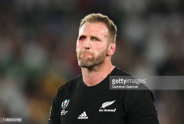 Kieran Read of New Zealand look on in disappointment after the Rugby World Cup 2019 Semi-Final match between England and New Zealand at International...
