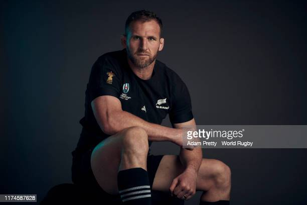 Kieran Read of New Zealand poses for a portrait during the New Zealand Rugby World Cup 2019 squad photo call on September 13, 2019 in Kashiwa, Chiba,...