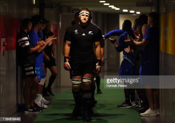 Kieran Read of New Zealand walks in the tunnel during half time during the Rugby World Cup 2019 Bronze Final match between New Zealand and Wales at...