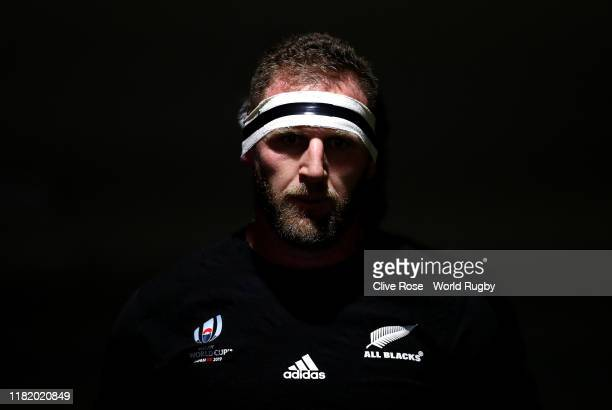 Kieran Read of New Zealand walks through the tunnel prior to the Rugby World Cup 2019 Quarter Final match between New Zealand and Ireland at the...