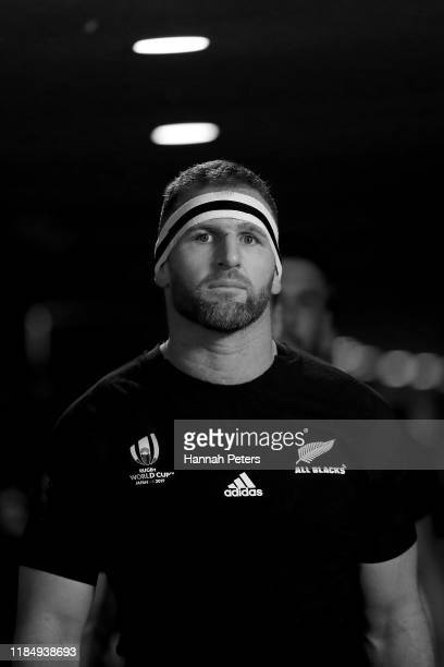Kieran Read of the All Blacks leads his team out ahead of the Rugby World Cup 2019 Bronze Final match between New Zealand and Wales at Tokyo Stadium...