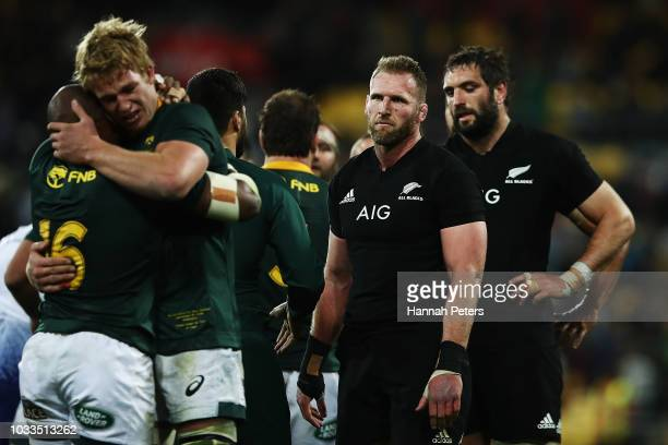 Kieran Read of the All Blacks looks on after losing The Rugby Championship match between the New Zealand All Blacks and the South Africa Springboks...