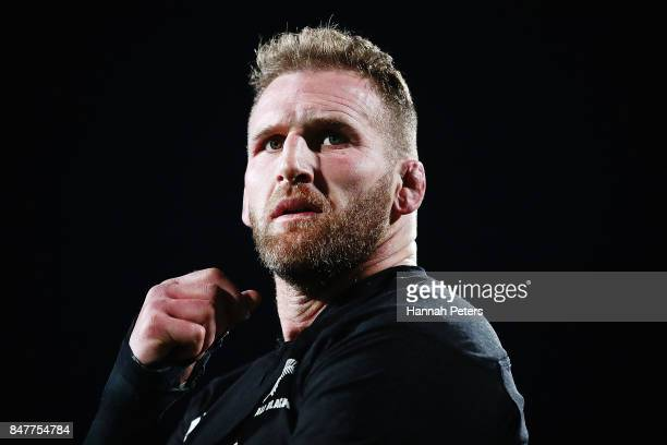 Kieran Read of the All Blacks looks on after winning the Rugby Championship match between the New Zealand All Blacks and the South African Springboks...