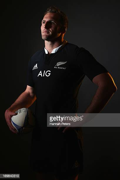 Kieran Read of the All Blacks poses during a New Zealand All Blacks portrait session at The Heritage Hotel at The Heritage Hotel on June 3 2013 in...