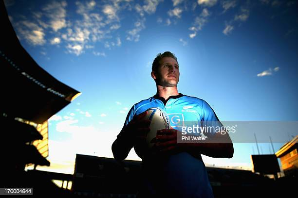 Kieran Read of the All Blacks poses for a portrait during a New Zealand All Blacks training session at Eden Park on June 6 2013 in Auckland New...