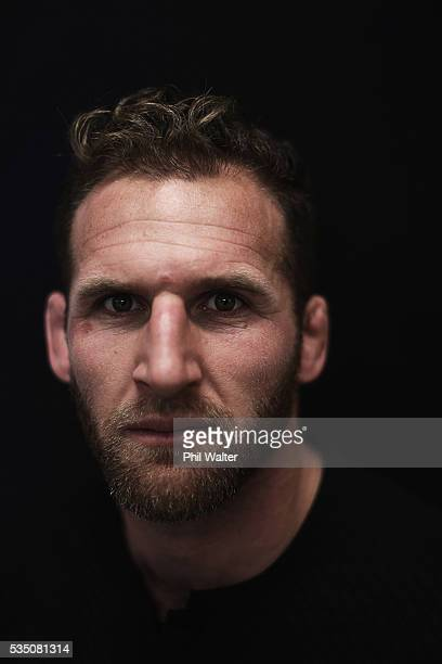 Kieran Read of the All Blacks poses for a portrait during a New Zealand All Black portrait session on May 29 2016 in Auckland New Zealand