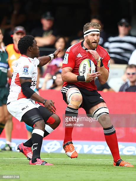 Kieran Read of the Crusaders during the Super Rugby match between Cell C Sharks and Crusaders at Growthpoint Kings Park on April 04 2015 in Durban...