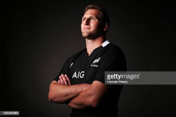 Kieran Read poses during a New Zealand All Blacks portrait session at the Heritage Hotel on November 1 2012 in Auckland New Zealand