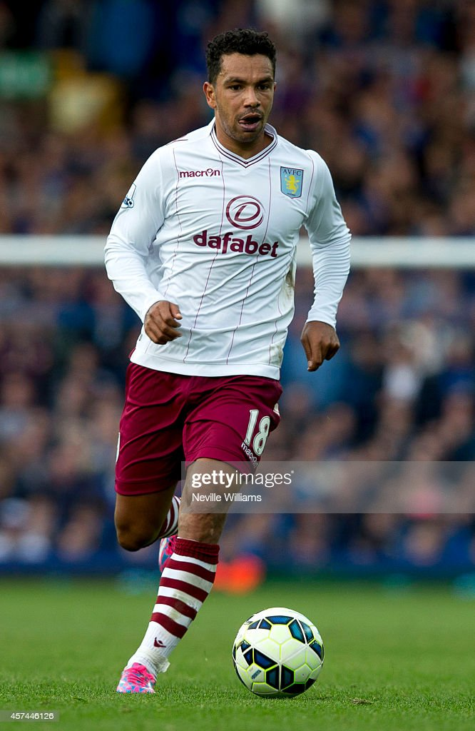 Kieran Richardson of Aston Villa during the Barclays Premier League match between Everton and Aston Villa at Goodison Park on October 18, 2014 in Liverpool, England.