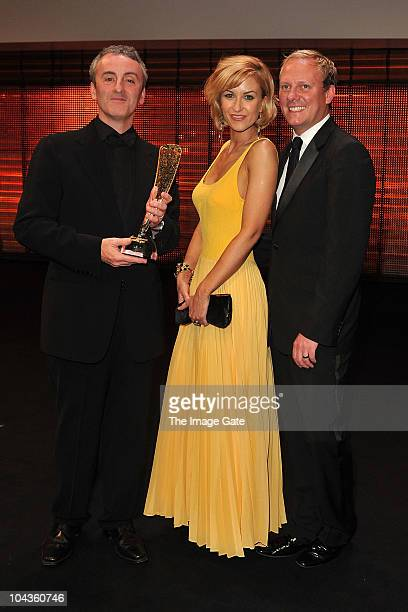 Kieran Roberts Katherine Kelly and Antony Cotton of Coronation Street pose with the Rose d�Or Golden Jubilee Award during at the 50th Rose d'Or...