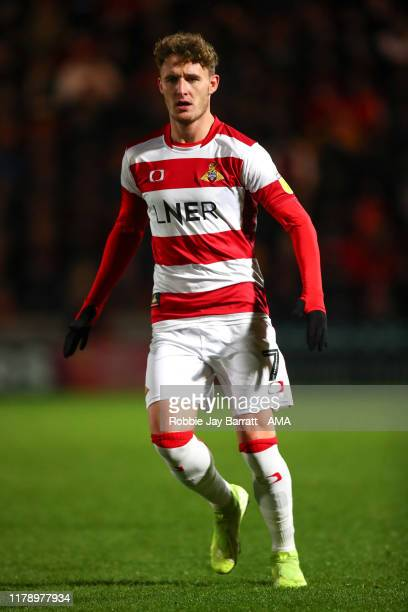 Kieran Sadlier of Doncaster Rovers during the Leasingcom Trophy match fixture between Doncaster Rovers and Manchester United U21's at Keepmoat...