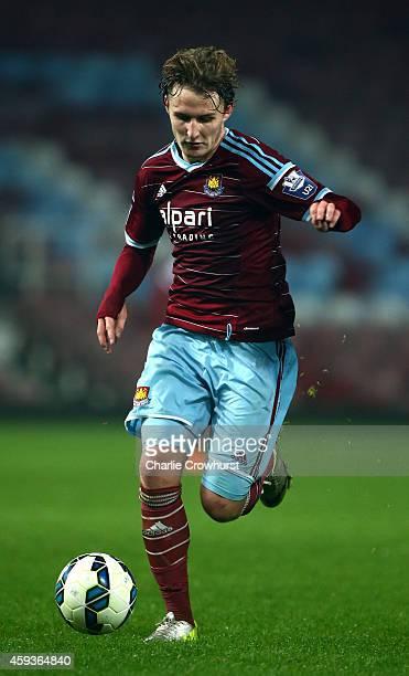 Kieran Sadlier of West Ham in action during the 2015 Barclays U21 Premier League International Cup between West Ham United U21 and PSV Eindhoven U21...
