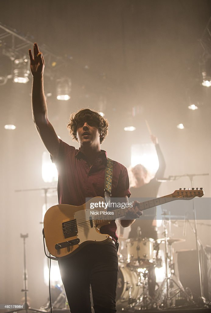 Kieran Shudall of Circa Waves performs at the O2 Academy Brixton on October 10, 2015 in London, England.
