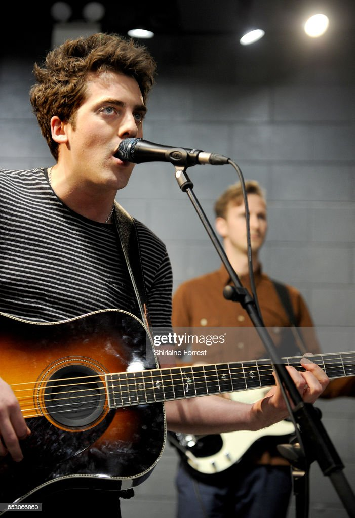 Kieran Shudall of Circa Waves performs instore and signs copies of their new album 'Different Creatures' at HMV Liverpool One on March 13, 2017 in Liverpool, United Kingdom.