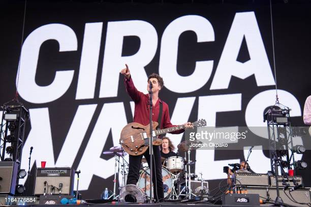 Kieran Shudall of Circa Waves performs on stage during Day 1 of Fusion Festival 2019 on August 30 2019 in Liverpool England
