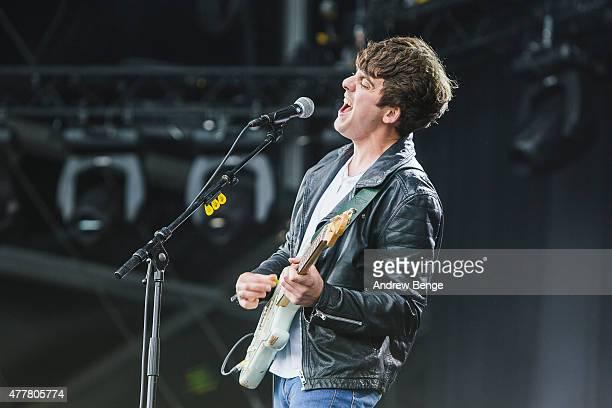 Kieran Shudall of Circa Waves performs on the main stage for Best Kept Secret Festival at Beekse Bergen on June 19 2015 in Hilvarenbeek Netherlands