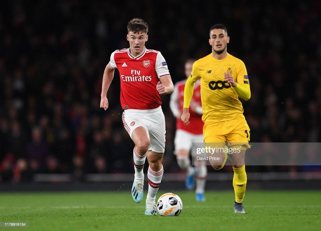 Arsenal FC v Standard Liege: Group F - UEFA Europa League : Foto di attualità