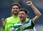 glasgow scotland kieran tierney celtic celebrates