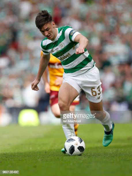 Kieran Tierney of Celtic controls the ball during the Scottish Cup Final between Celtic and Motherwell at Hampden Park on May 19 2018 in Glasgow...