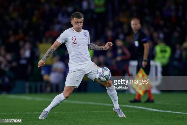 Kieran Tripier of England during the UEFA Nations League A group four match between Spain and England at Benito Villamarin on October 15 2018 in...