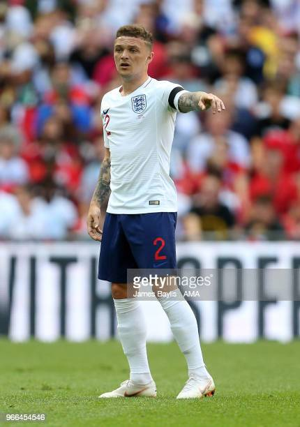 Kieran Trippier of England during the International Friendly between England and Nigeria at Wembley Stadium on June 2 2018 in London England