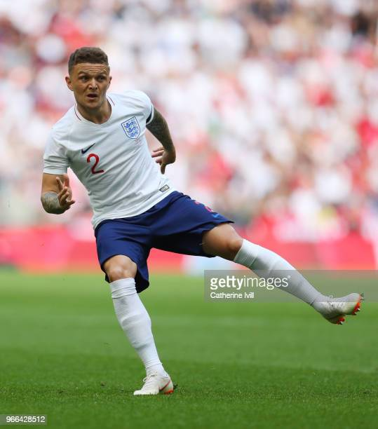 Kieran Trippier of England during the International Friendly match between England and Nigeria at Wembley Stadium on June 2 2018 in London England