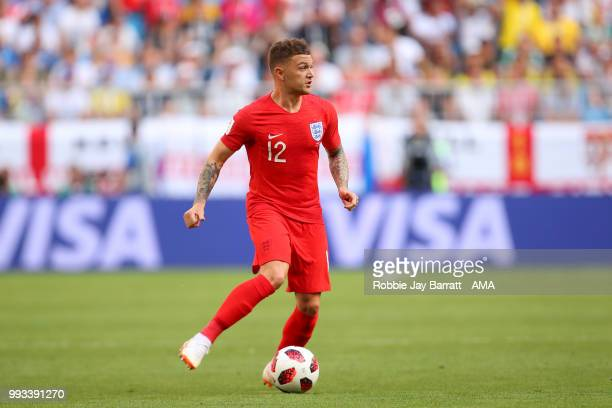 Kieran Trippier of England in action during the 2018 FIFA World Cup Russia Quarter Final match between Sweden and England at Samara Arena on July 7...