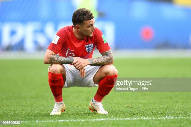 Kieran Trippier of England looks dejected following his sides defeat in the 2018 FIFA World Cup Russia 3rd Place Playoff match between Belgium and...