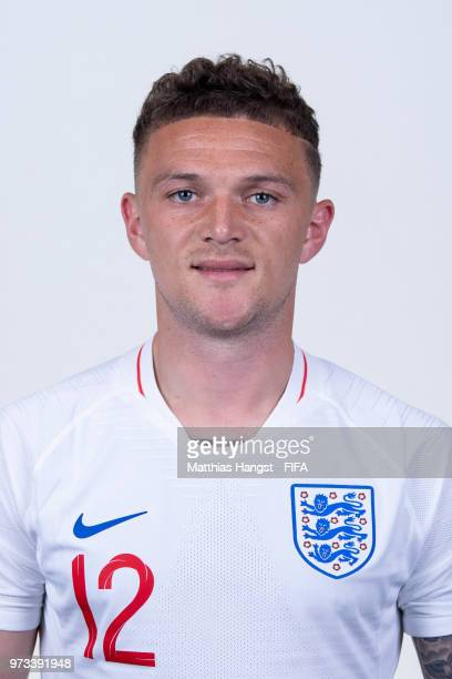 Kieran Trippier of England poses for a portrait during the official FIFA World Cup 2018 portrait session at on June 13 2018 in Saint Petersburg Russia