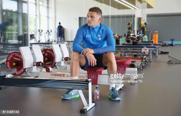 Kieran Trippier of Tottenham during the Tottenham Hotspur training session at Tottenham Hotspur Training Centre on July 14 2017 in Enfield England