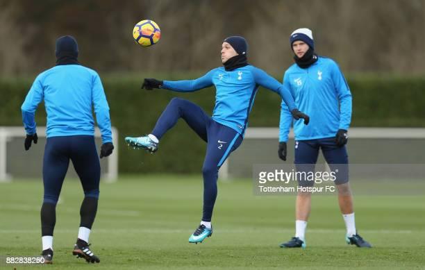 Kieran Trippier of Tottenham during the Tottenham Hotspur training session at Tottenham Hotspur Training Centre on November 30 2017 in Enfield England