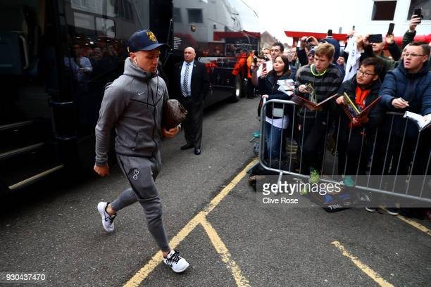 Kieran Trippier of Tottenham Hotspur arrives at the stadium prior to the Premier League match between AFC Bournemouth and Tottenham Hotspur at...