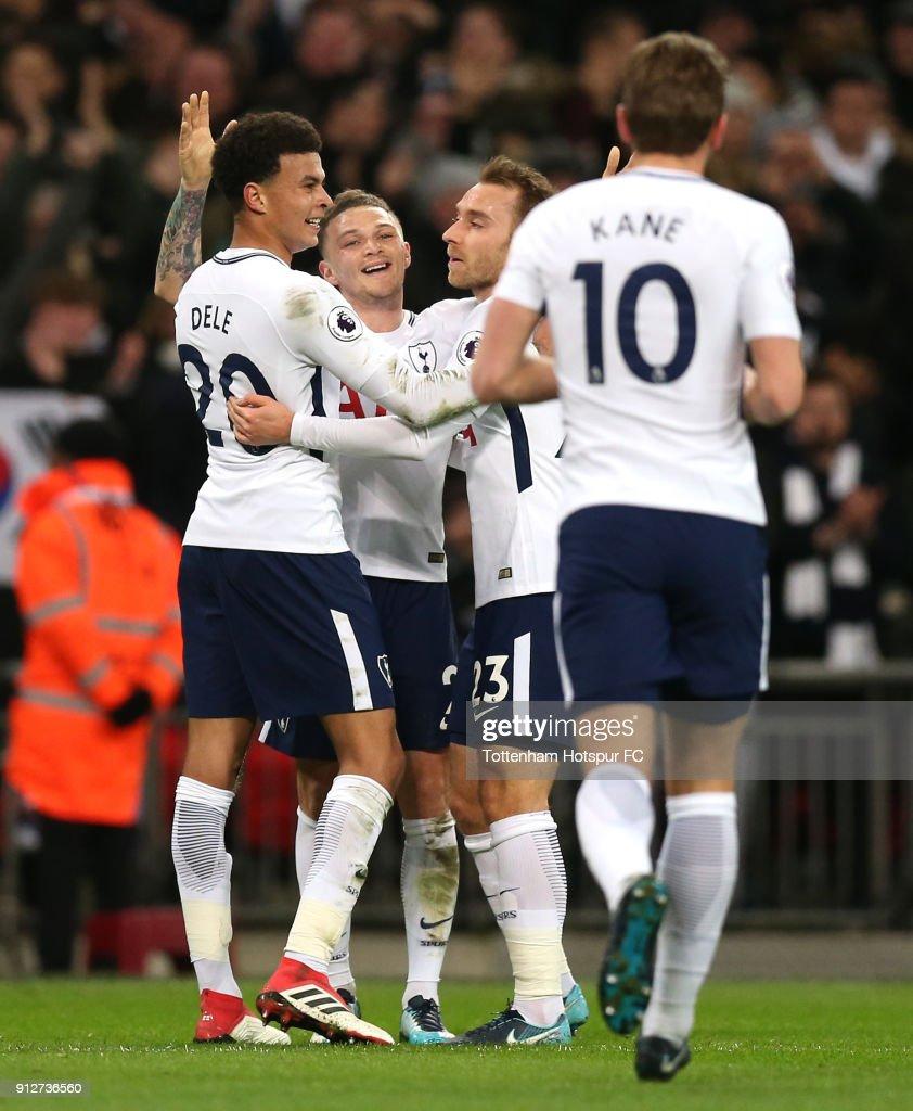 Christian Eriksen In Tottenham Hotspur V Newcastle United: Kieran Trippier Of Tottenham Hotspur Christian Eriksen Of
