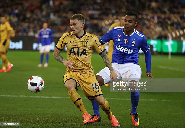 Kieran Trippier of Tottenham Hotspur controls the ball during the 2016 International Champions Cup match between Juventus FC and Tottenham Hotspur at...
