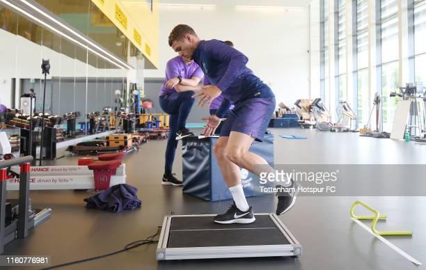Kieran Trippier of Tottenham Hotspur during a preseason gym session at Tottenham Hotspur Training Centre on July 08 2019 in Enfield England