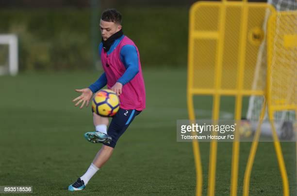 Kieran Trippier of Tottenham Hotspur during the Tottenham Hotspur training session at Tottenham Hotspur Training Centre on December 15 2017 in...