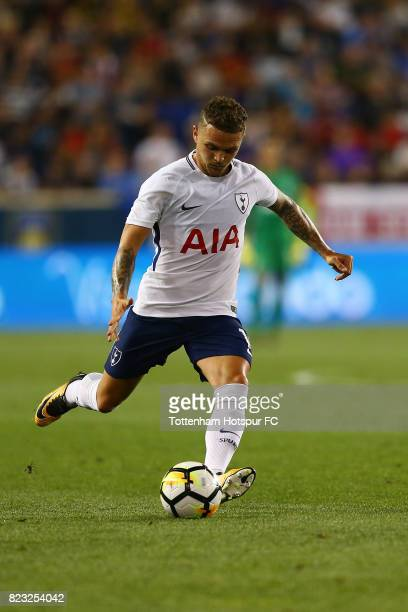 Kieran Trippier of Tottenham Hotspur in action against Roma during the International Champions Cup 2017 at Red Bull Arena on July 25, 2017 in...