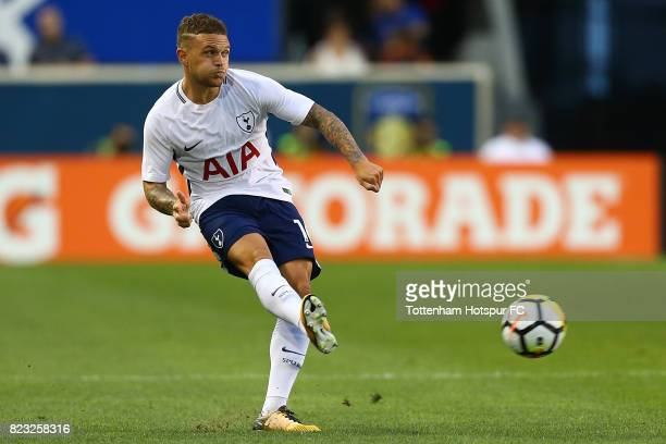 Kieran Trippier of Tottenham Hotspur in action against Roma during the International Champions Cup 2017 at Red Bull Arena on July 25 2017 in Harrison...